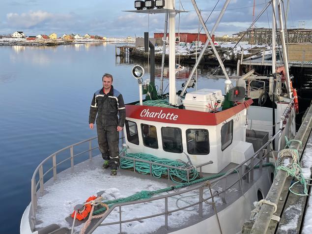 Sander Karlsen med sitt nye fiskefartøy
