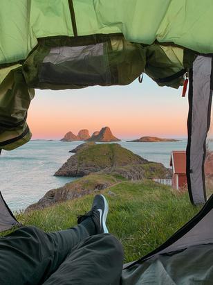 Camping i Storfjellet rett utenfor Røst